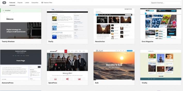 install wordpress theme 2021