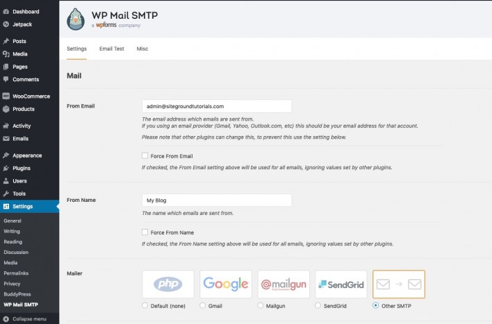 How To Configure Wordpress To Use Smtp For Sending Emails Tutorial