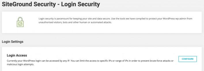 Login Security - SiteGround Tutorials