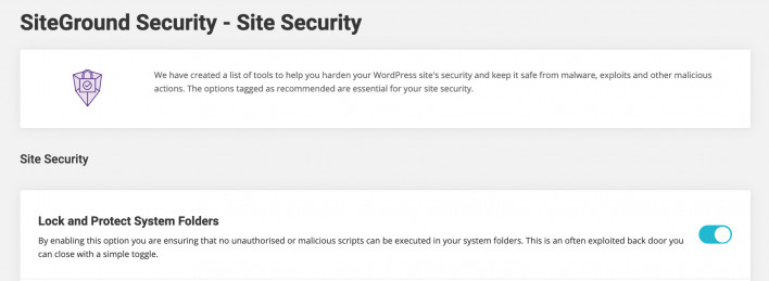 Site Security - SiteGround Tutorials